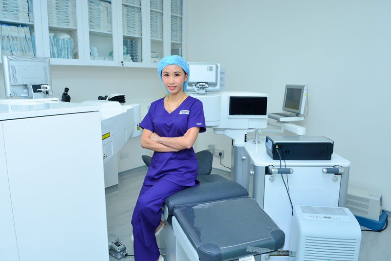 Dr Natasha lim in operating room