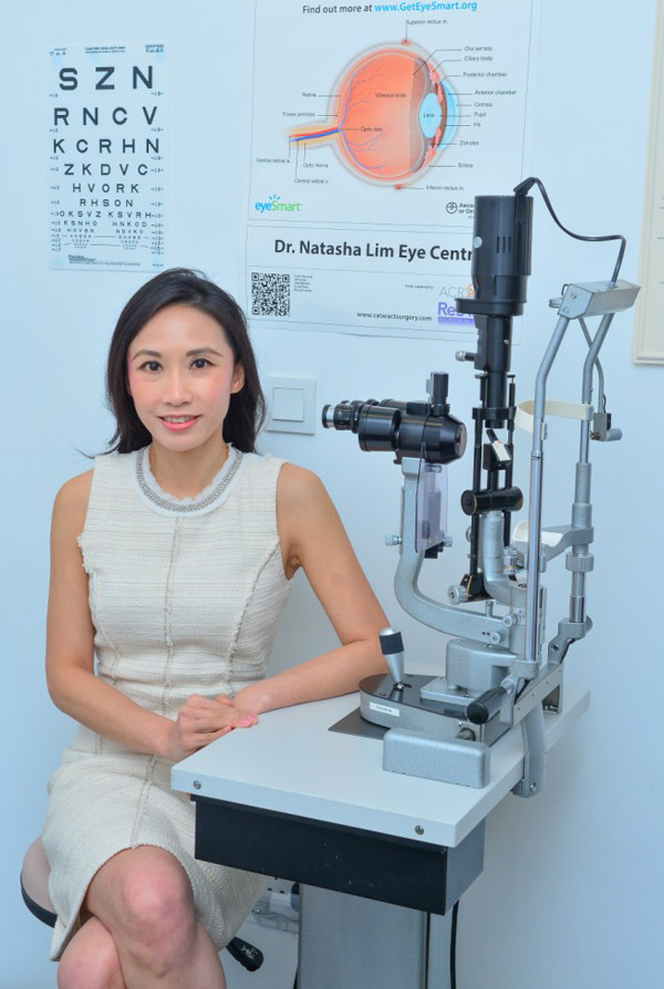 Dr Natasha Lim in her treatment room