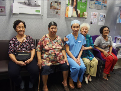 Elderly visitor of Dr Natasha Lim Eye Centre