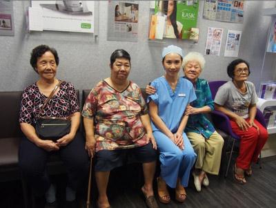 Elderly visitor of Dr Natasha Lim Eye Centre