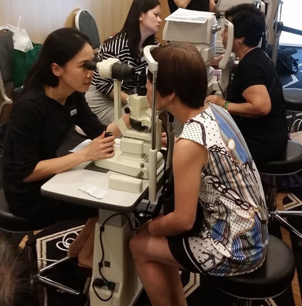 Eye screening services event by Dr Natasha Lim