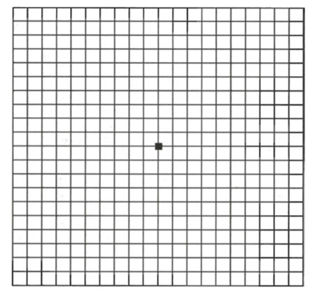 Amsler grid to check the eyesight